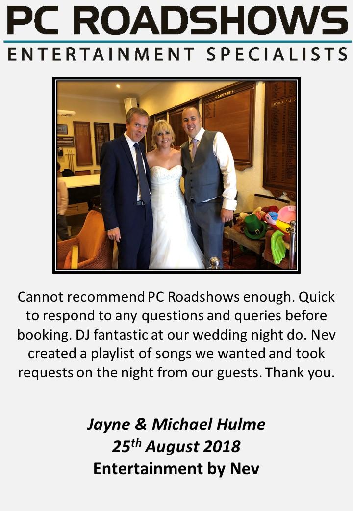 PCRoadshows Entertainments Ltd   Wedding Entertainment